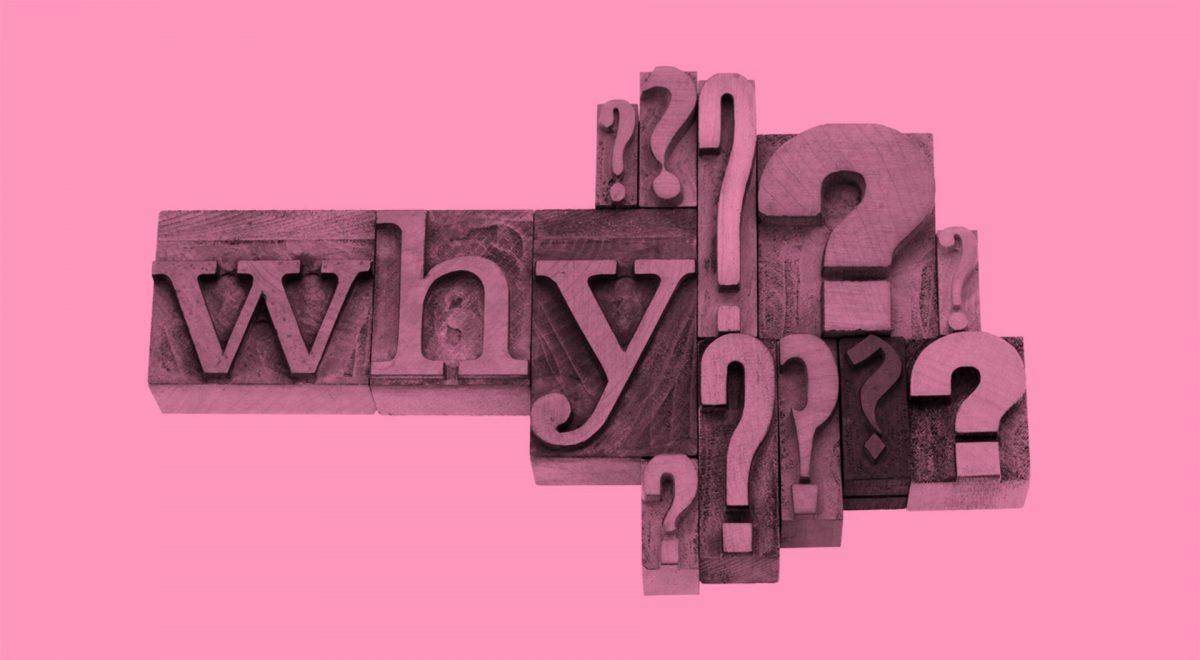 "Bokstäver som stavar ""Why?"""