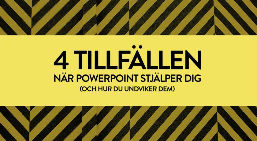 Text på bild: 4 tillfällen när Powerpoint stjälper dig (och hur du undviker dem)