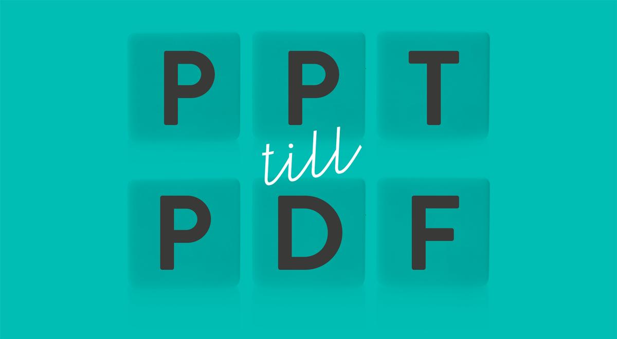 PDF till PPT